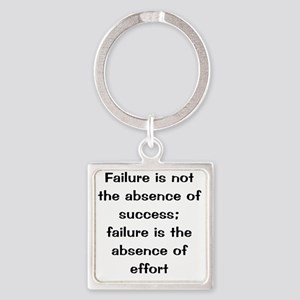 what is failure Square Keychain