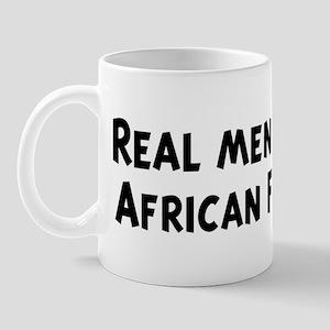 Men eat African Food Mug