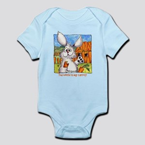 Funny Rabbit Art Infant Bodysuit