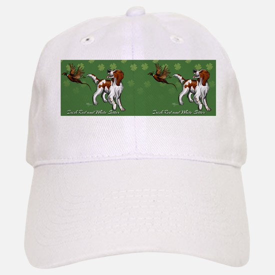 Irish Red and White Setter with Clovers Baseball Baseball Cap