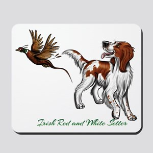 Irish Red and White Setter Mousepad
