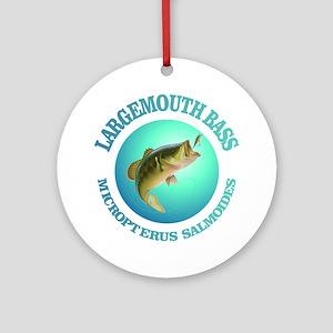 Largemouth Bass Round Ornament