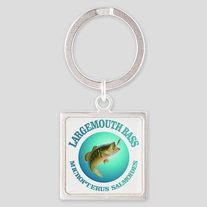 Largemouth Bass Square Keychain