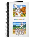 Cute Cartoon Rabbit Blank Journal
