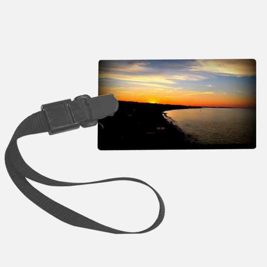 Sunset over Sand Hills with Bord Luggage Tag