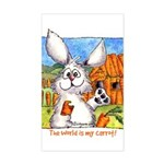 Cute Cartoon Rabbit Rectangle Sticker