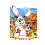 Rabbit Cartoon Carrot Postcards (Package of 8)