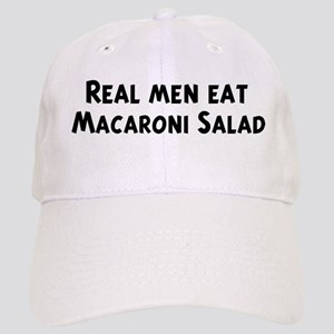 Men eat Macaroni Salad Cap