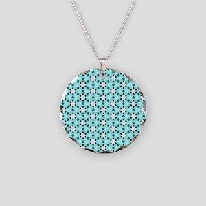 White and black stars on Aqu Necklace Circle Charm