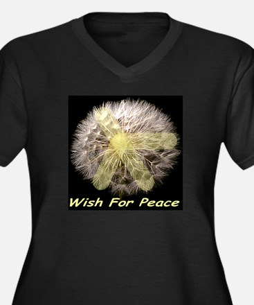 Wish For Peace Dandelion Women's Plus Size V-Neck