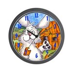 Cute Cartoon Rabbit Wall Clock