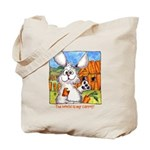 Rabbit Cartoon Carrot Tote Bag