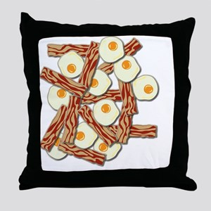Bacon and Eggs Pattern Throw Pillow