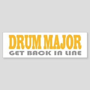 Funny Drum Major Bumper Sticker