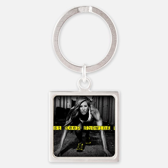 Pain is Temporary Square Keychain