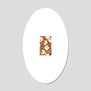 Bacon and Eggs Pattern 20x12 Oval Wall Decal