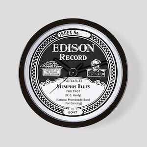 Memphis Blues Edison record label Wall Clock