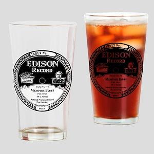 Memphis Blues Edison record label Drinking Glass