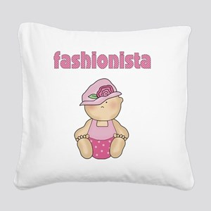 Fashionista Square Canvas Pillow