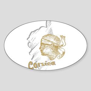 corsica3 Oval Sticker
