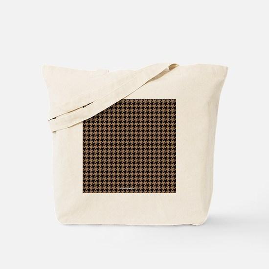 Houndstooth  Khaki Tote Bag