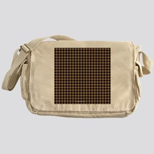 Houndstooth  Khaki Messenger Bag