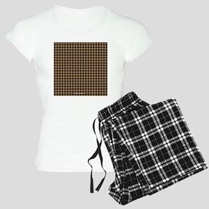Houndstooth  Khaki Women's Light Pajamas