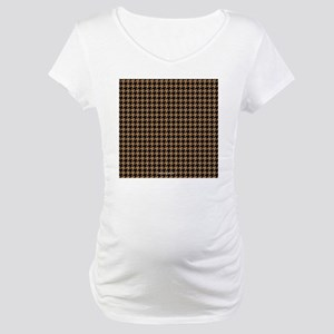 Houndstooth  Khaki Maternity T-Shirt