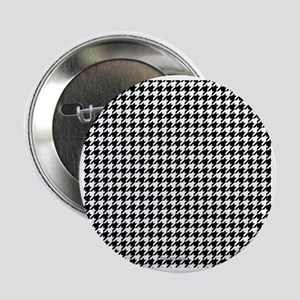 """Houndstooth  White 2.25"""" Button"""