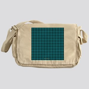 Houndstooth   Blue Messenger Bag