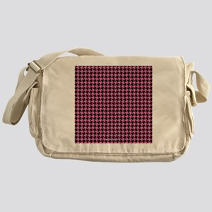 Houndstooth  Pink Messenger Bag