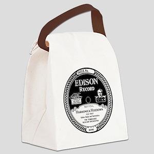 Harmonica Hoedown Edison Record l Canvas Lunch Bag