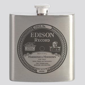 Harmonica Hoedown Edison Record label Flask