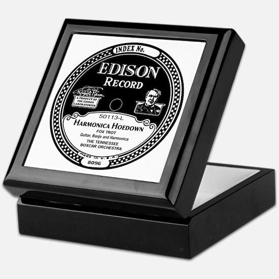 Harmonica Hoedown Edison Record label Keepsake Box