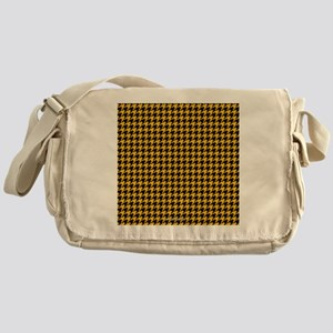 Houndstooth  Yellow Messenger Bag