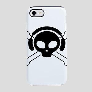 pirate, skull, dj iPhone 7 Tough Case