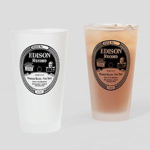 Wabash Blues Edison record label Drinking Glass