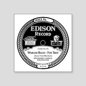 """Wabash Blues Edison record  Square Sticker 3"""" x 3"""""""