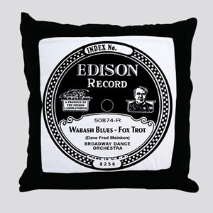Wabash Blues Edison record label Throw Pillow
