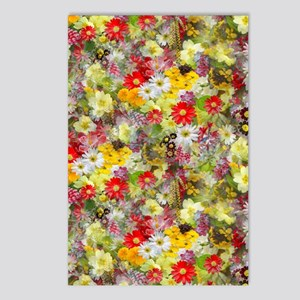 Red and Yellow Spring Flo Postcards (Package of 8)