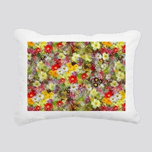 Red and Yellow Spring Fl Rectangular Canvas Pillow