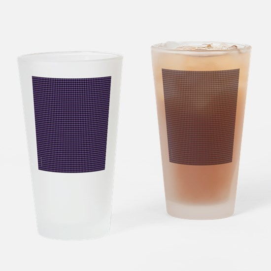 Houndstooth   Purple Drinking Glass