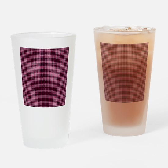 Houndstooth  Pink Drinking Glass