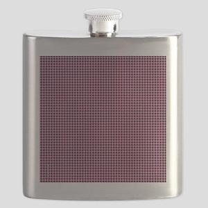 Houndstooth  Pink Flask