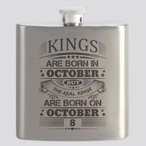 Real Kings Are Born On October 8 Flask