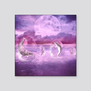 """Dream Of Dolphins Square Sticker 3"""" x 3"""""""