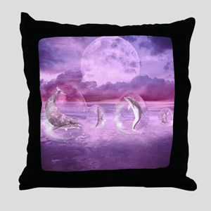 Dream Of Dolphins Throw Pillow