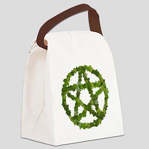 Pagan Leaves Pentagram Canvas Lunch Bag