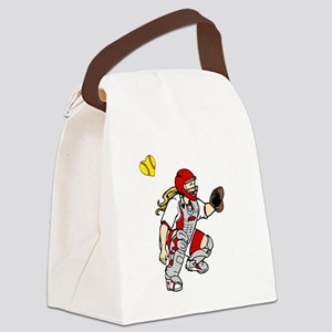 red2, I love my catcher Canvas Lunch Bag