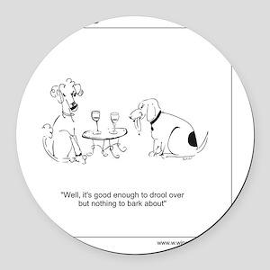 www.winecountrydogs.com Round Car Magnet